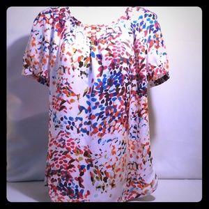 Liz Claiborne Multicolor  Confetti Blouse